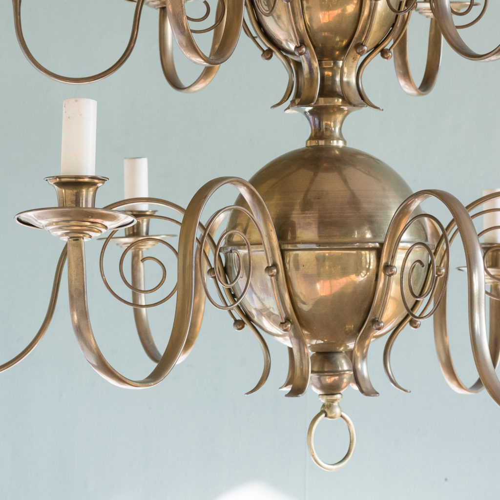 Brass twelve branch chandelier,-120640