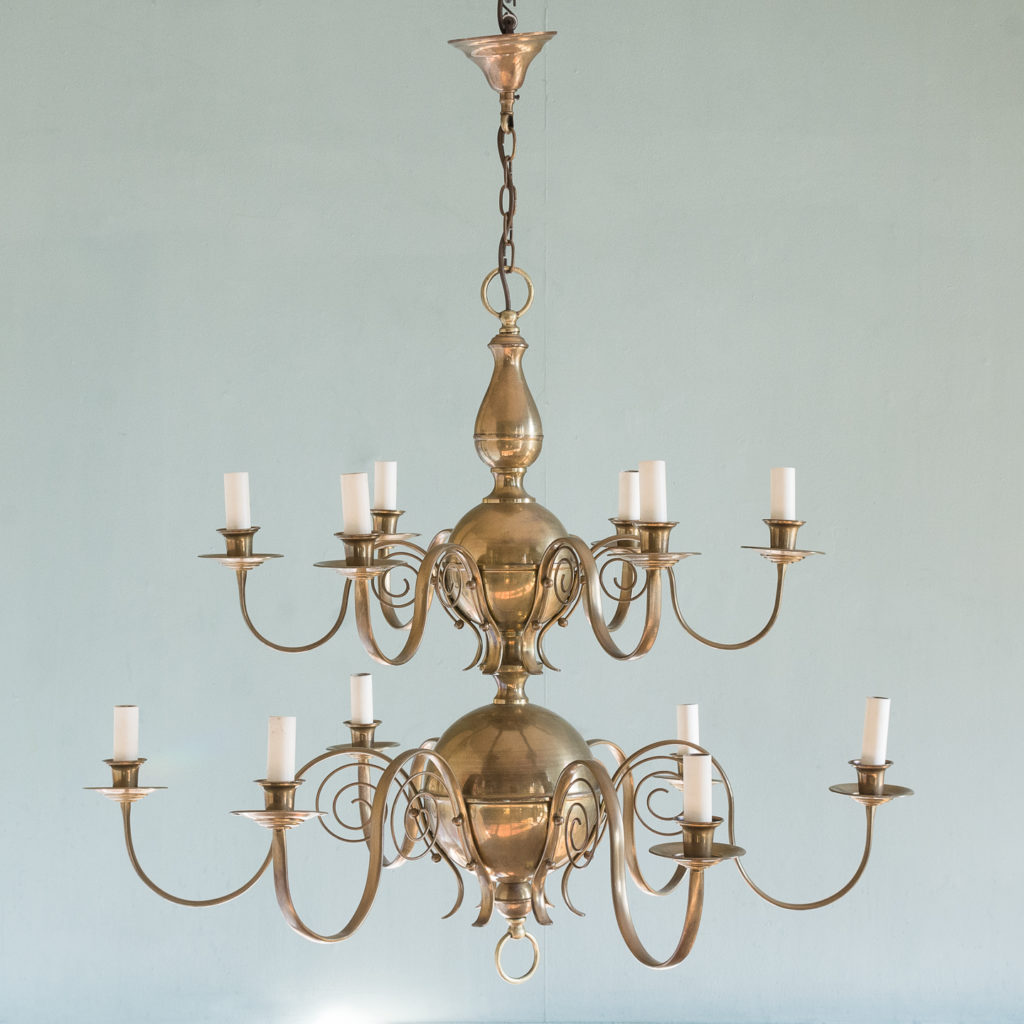 Brass twelve branch chandelier,-120641