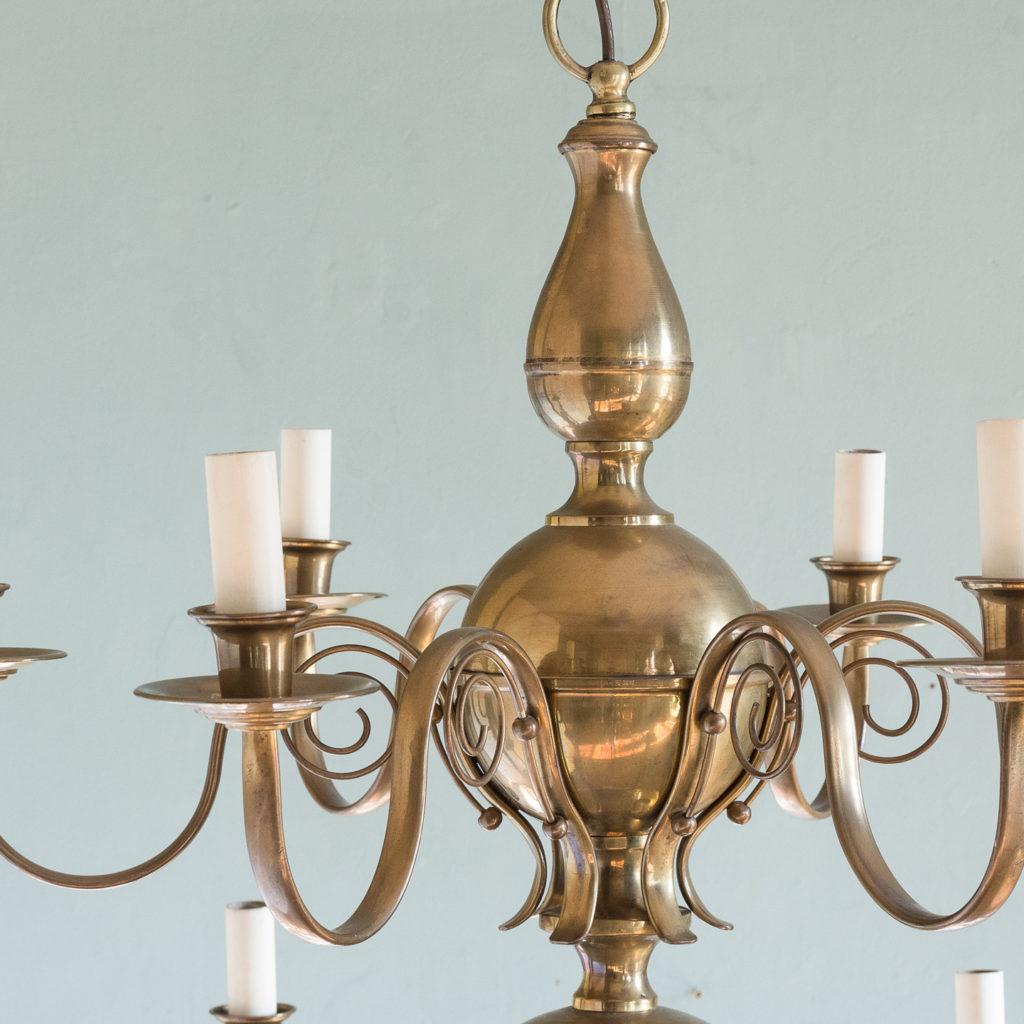 Brass twelve branch chandelier,-120637