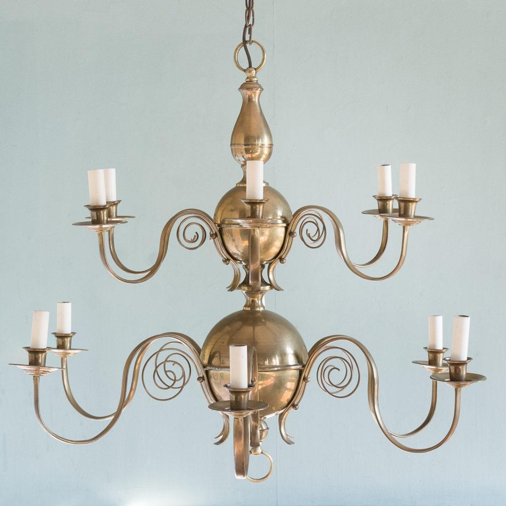 Brass twelve branch chandelier,-0