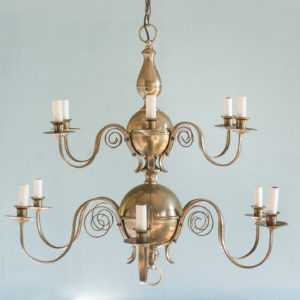 Brass twelve branch chandelier,-0