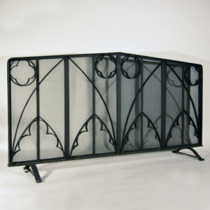A wrought iron inglenook screen-0