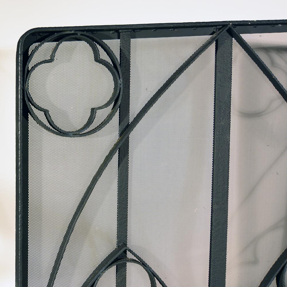 A wrought iron inglenook screen-80906