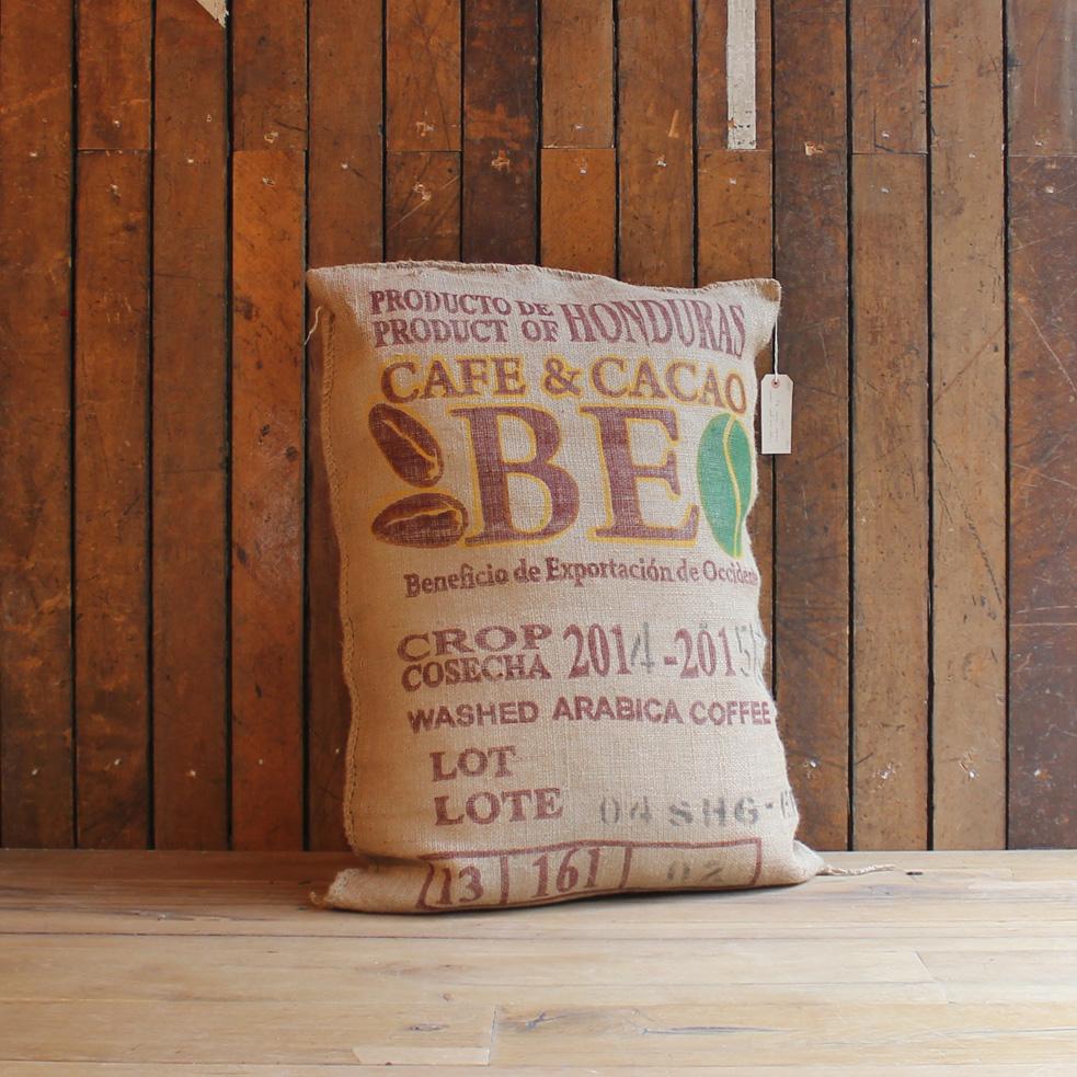 Coffee sack floor cushions-0