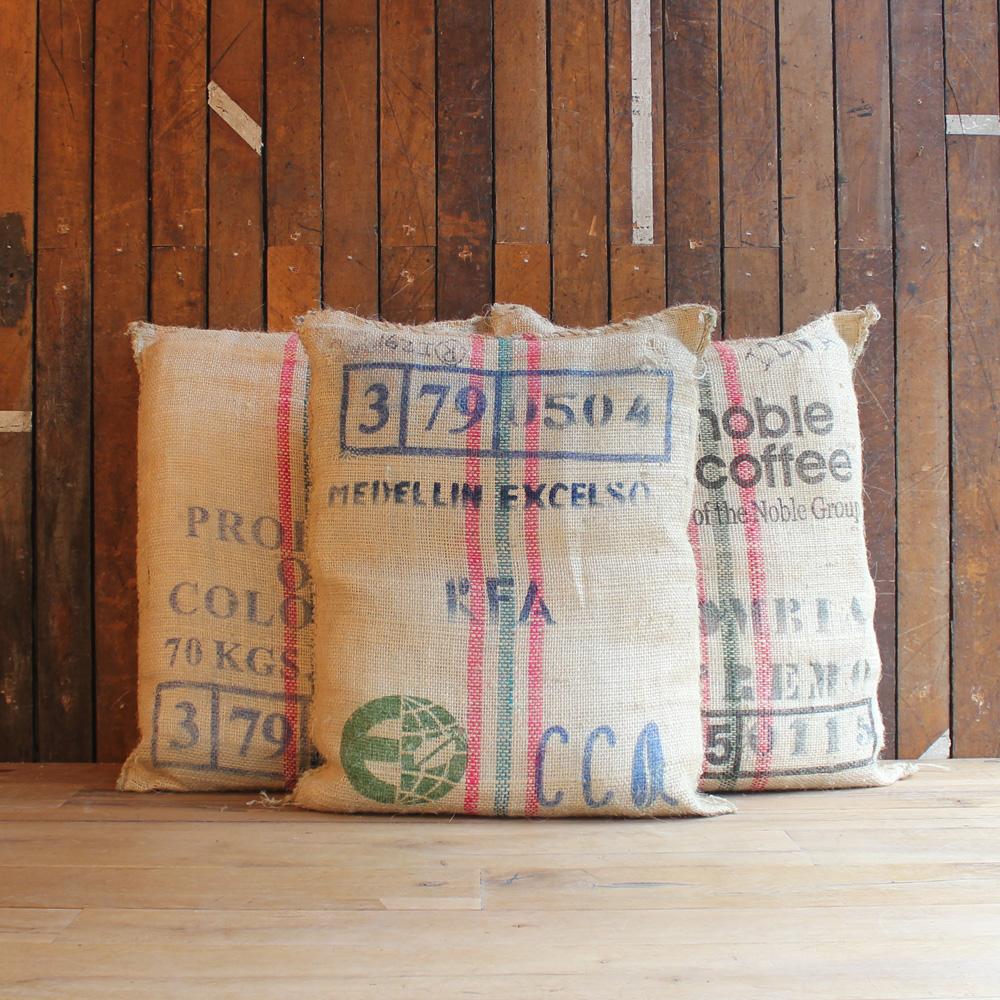 Coffee sack floor cushions-89013