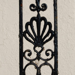 A pair of late Regency painted cast iron verandah pilasters,-0
