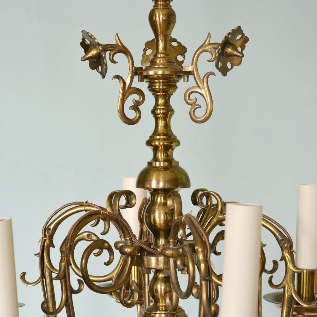 A Dutch style brass chandelier-88220