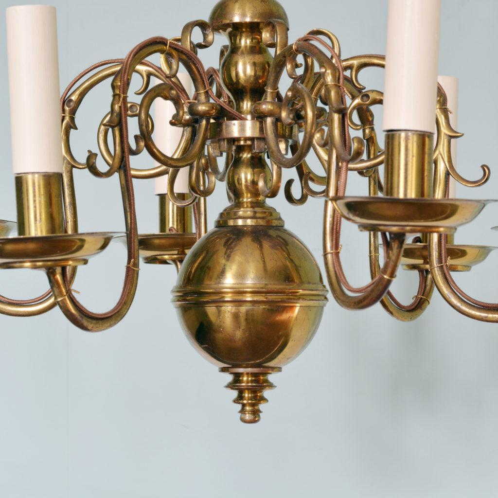 A Dutch style brass chandelier-88222