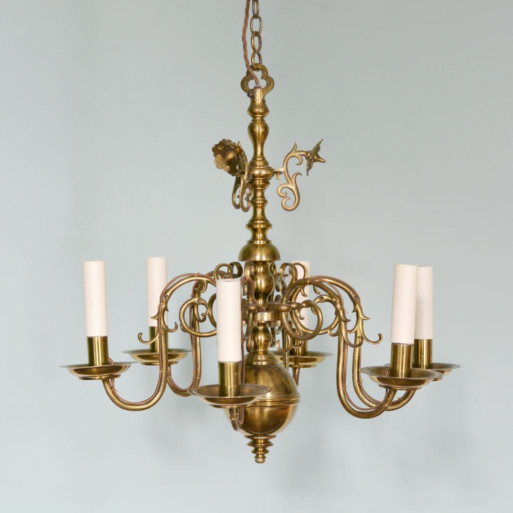 A Dutch style brass chandelier-88221