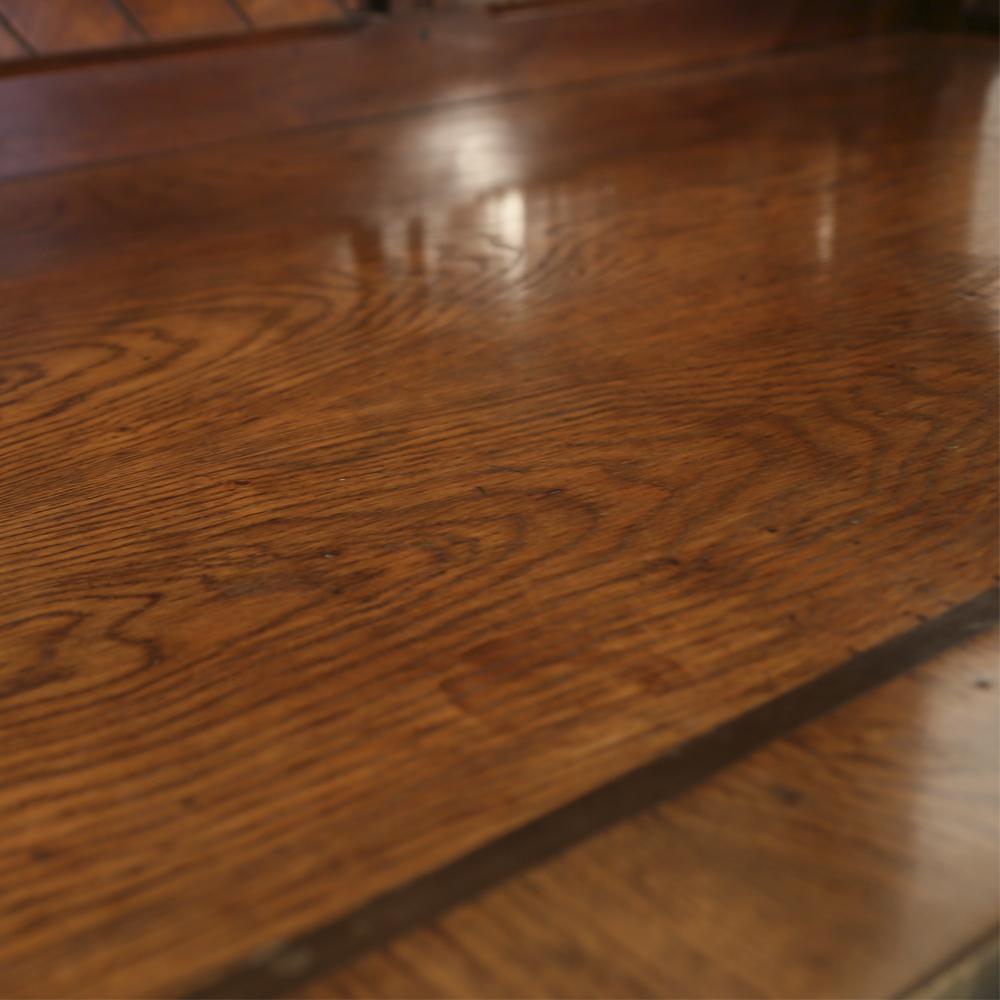 An imposing Reformed Gothic oak, walnut, ebonized and marquetry sideboard, -82538
