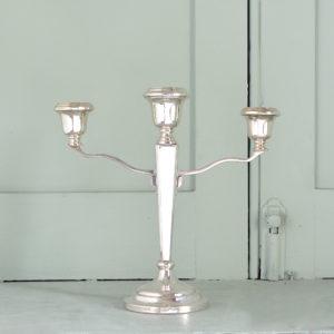 A silver candelabra-0