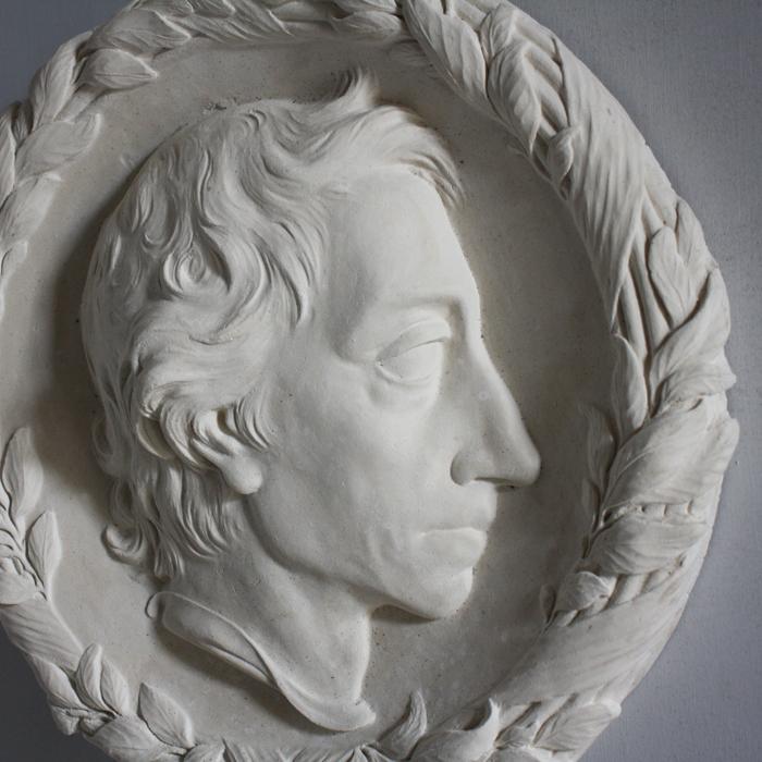 Alexander Pope portrait roundel