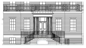 The proposed entrance to Brunswick House.