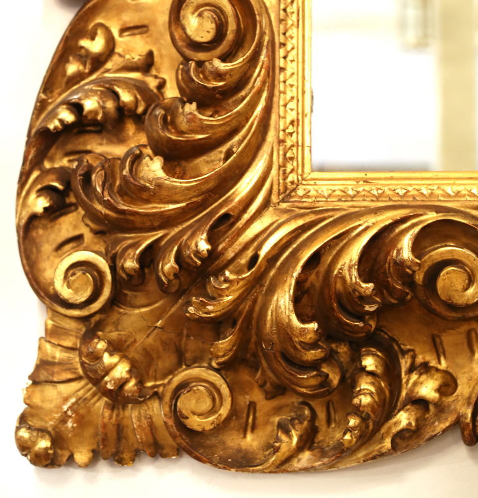 A large and impressive continental giltwood mirror,-82988