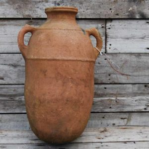 A north African two handled terracotta jar