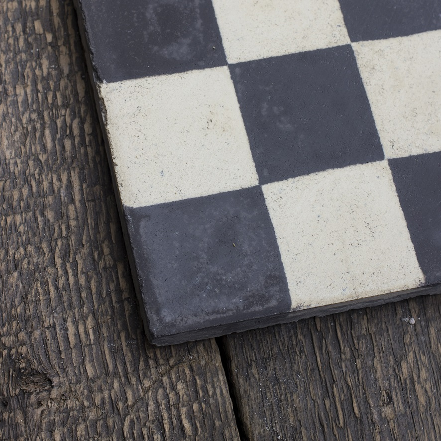 Black & white checkerboard tile,stock code 30132