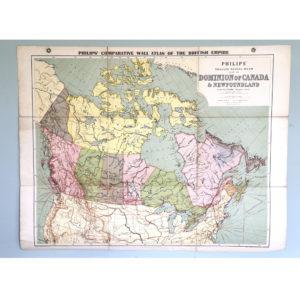 British Empire School Map, the Dominion of Canada-0
