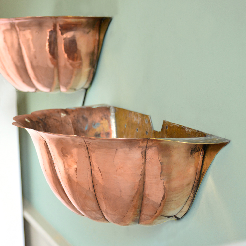 Painted copper uplighter-83569