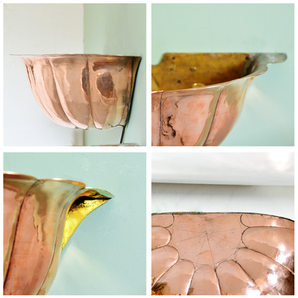 Painted copper uplighter-83570