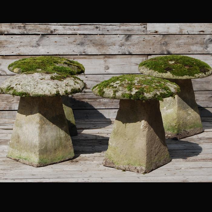 Staddle stones, mushrooms