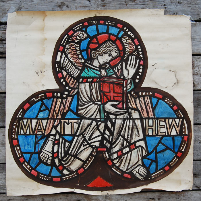 """Matthew"" by William Wilson, a cartoon for a stained glass window,"
