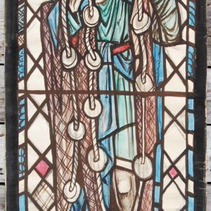 """saint Andrew"" by William Wilson, a cartoon for a stained glass window,"