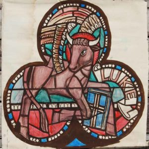 """Luke"" by William Wilson, a cartoon for a stained glass window,"