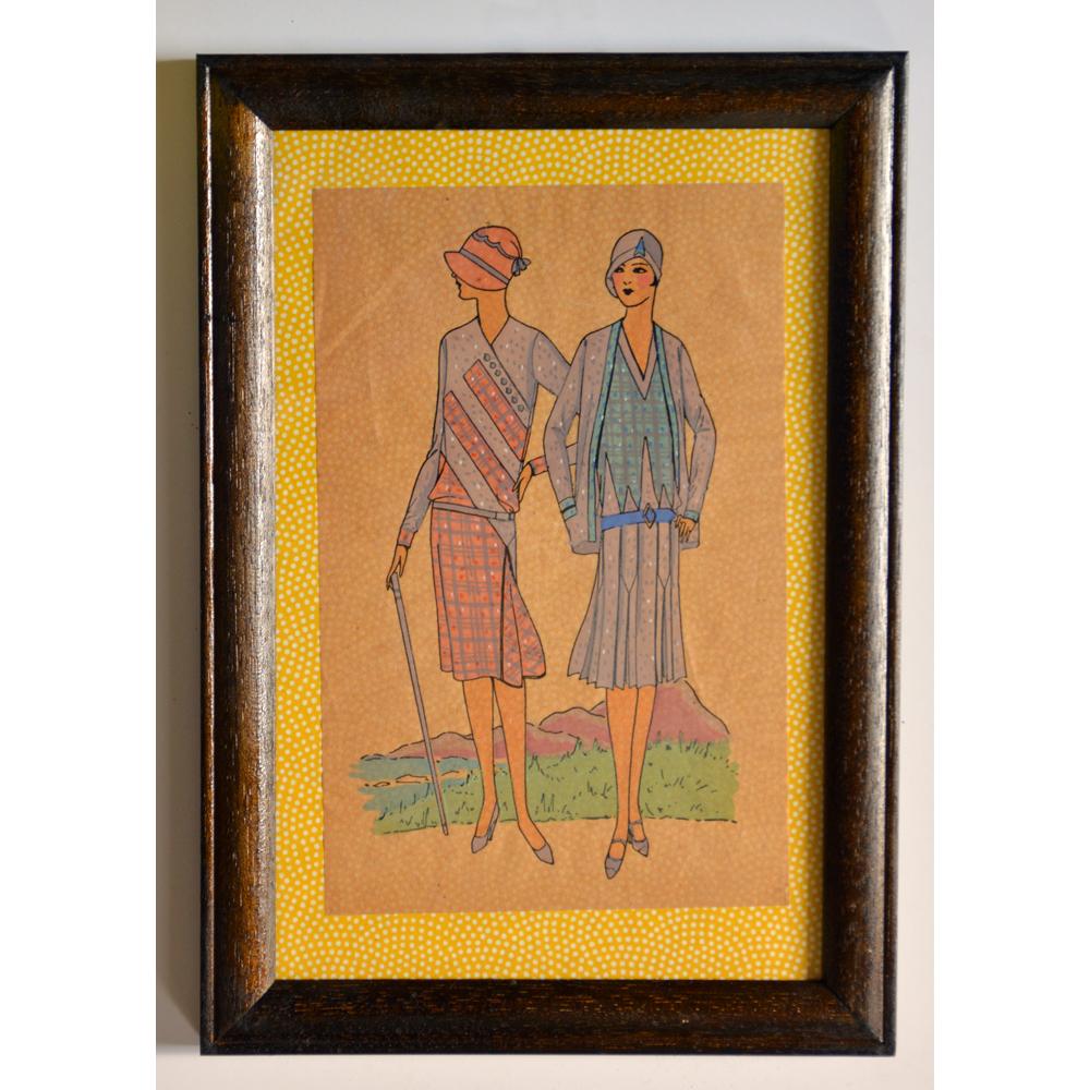 Original 1920's Fashion Illustrations-0