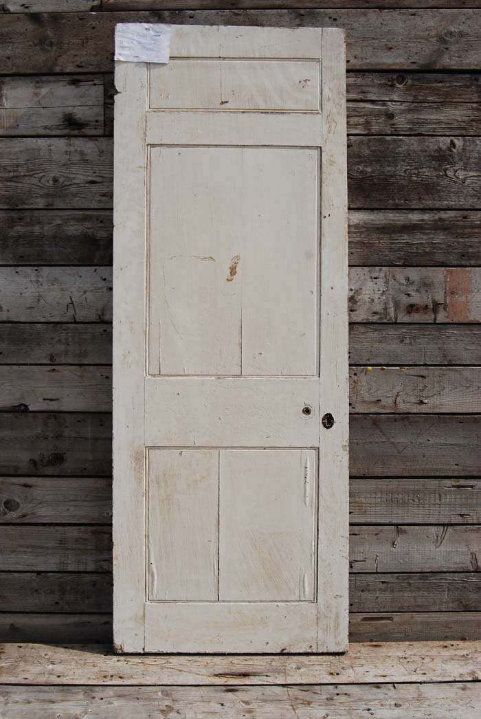 A three paneled painted door