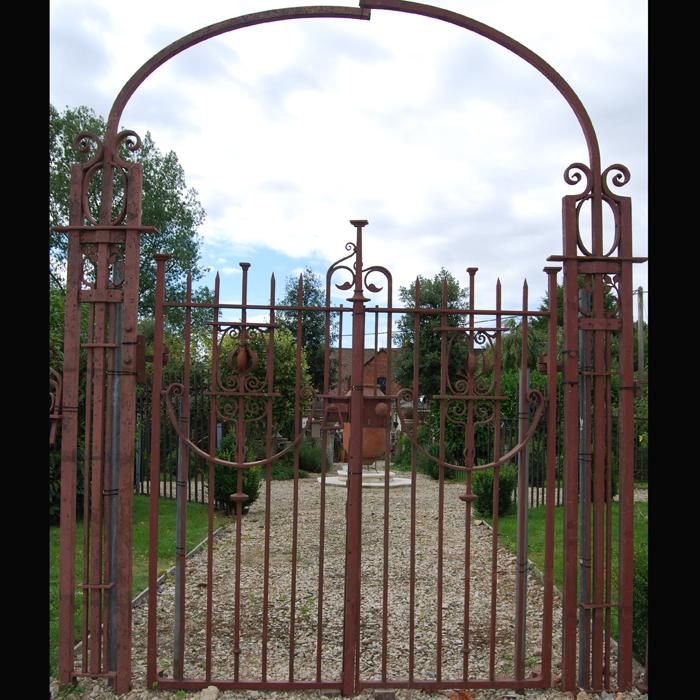 Wrought iron gateway