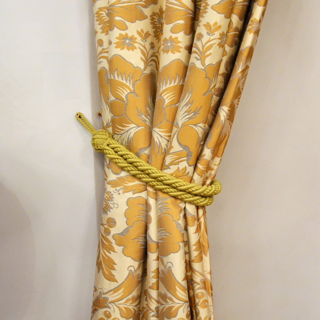 A suite of silk twill damask curtains,-84235