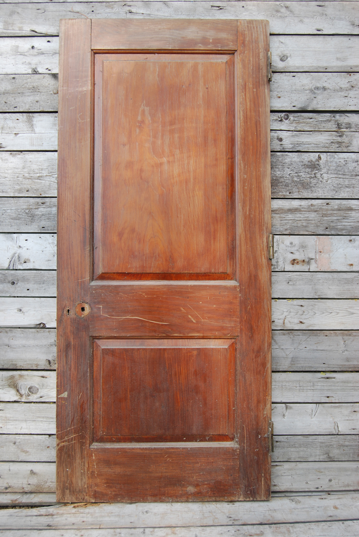A two panelled door