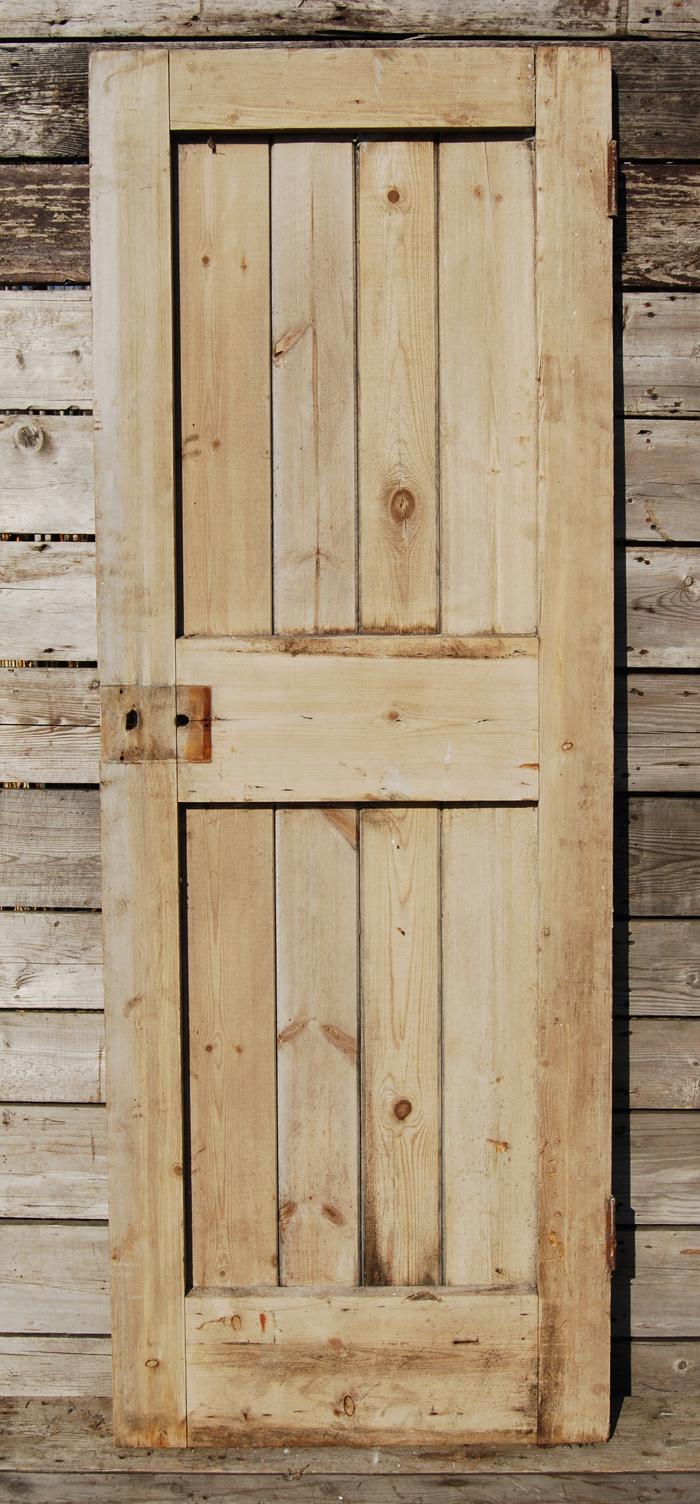 A ledged pine door