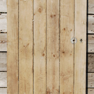 A ledged pine door