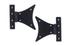 """A pair of 3 1/4"""" half butterfly hinges"""