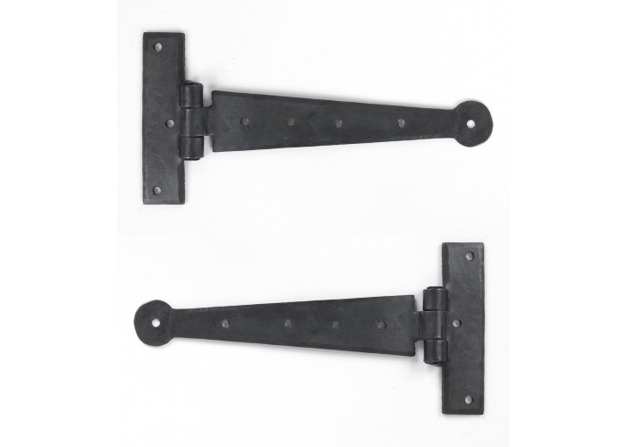 """a wrought iron 9"""" T hinge"""
