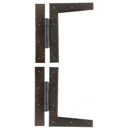 """A pair of wrought iron 9"""" HL hinges"""
