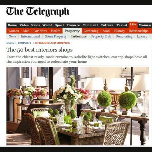 Telegraph Top 50 Interiors