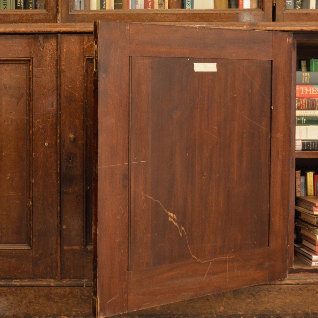A large poplar and glazed bookcase,-85456