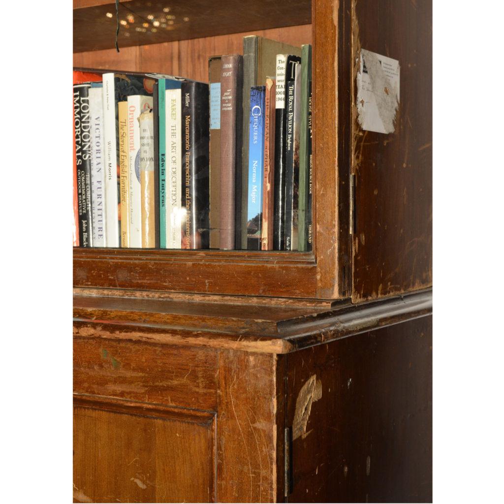 A large poplar and glazed bookcase,-85452