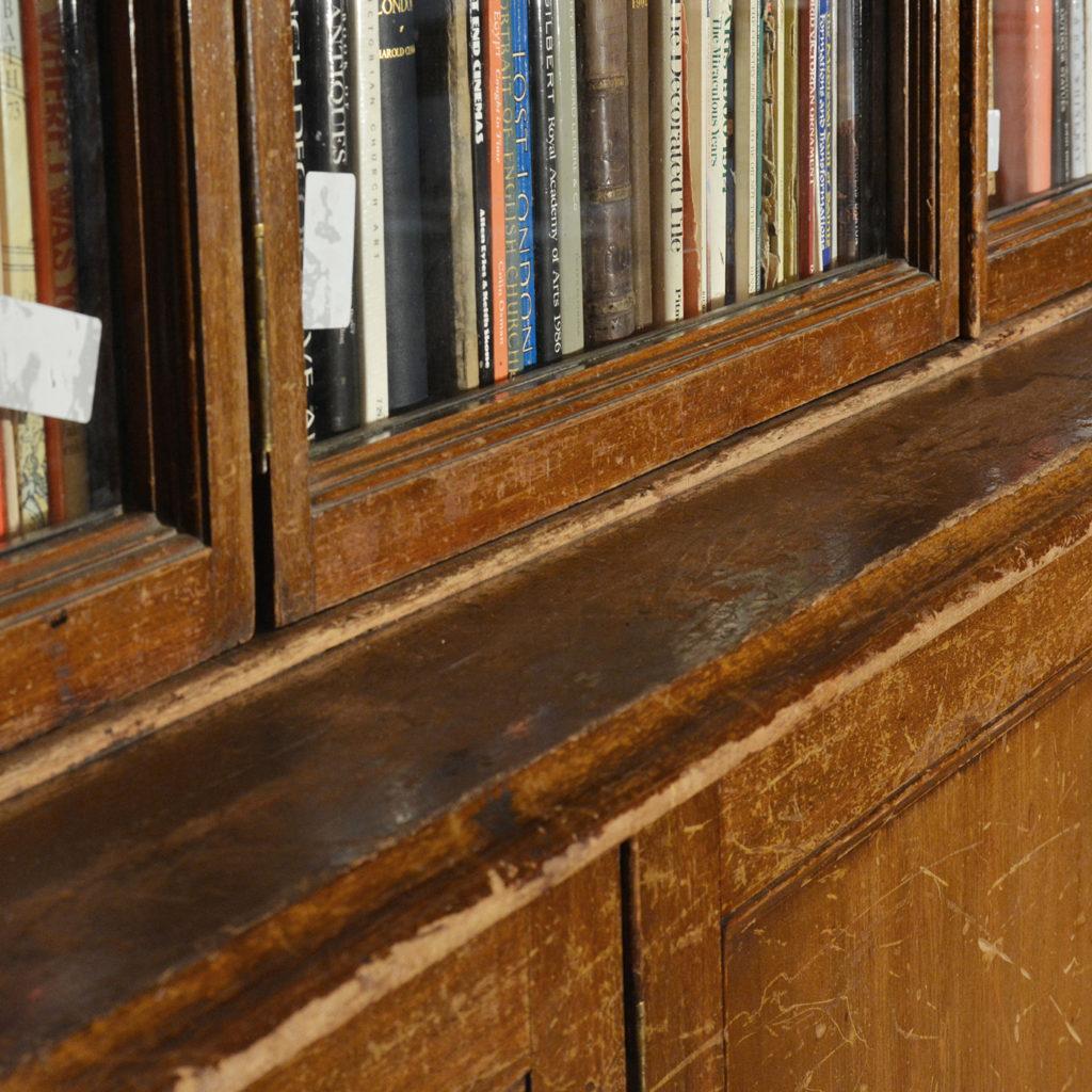 A large poplar and glazed bookcase,-85453