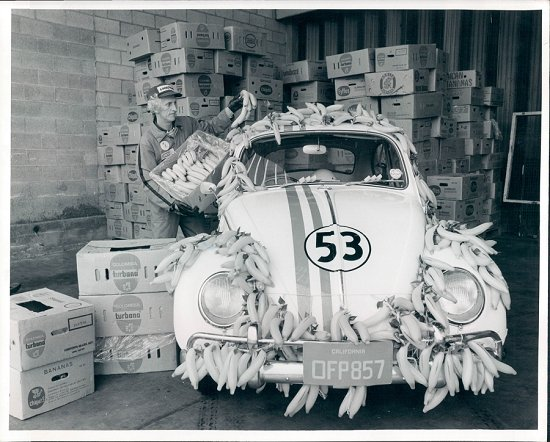 Promo shot for Herbie goes Bananas at New Covent Garden Market