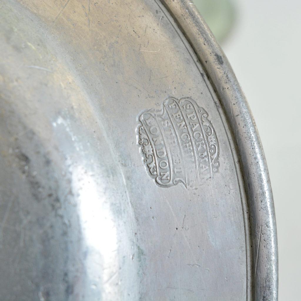 Plain rimmed pewter plates,-87983