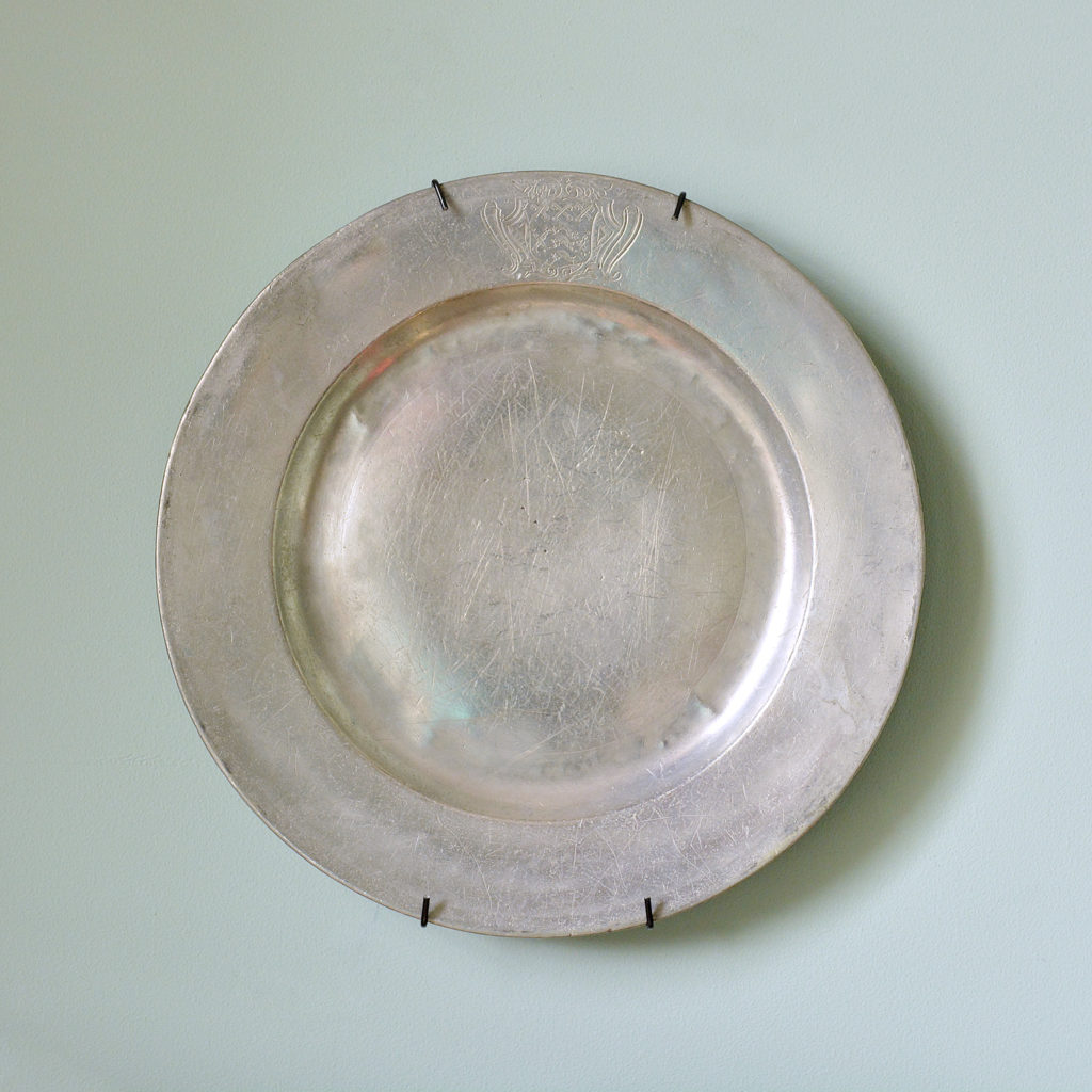 Small pewter plates