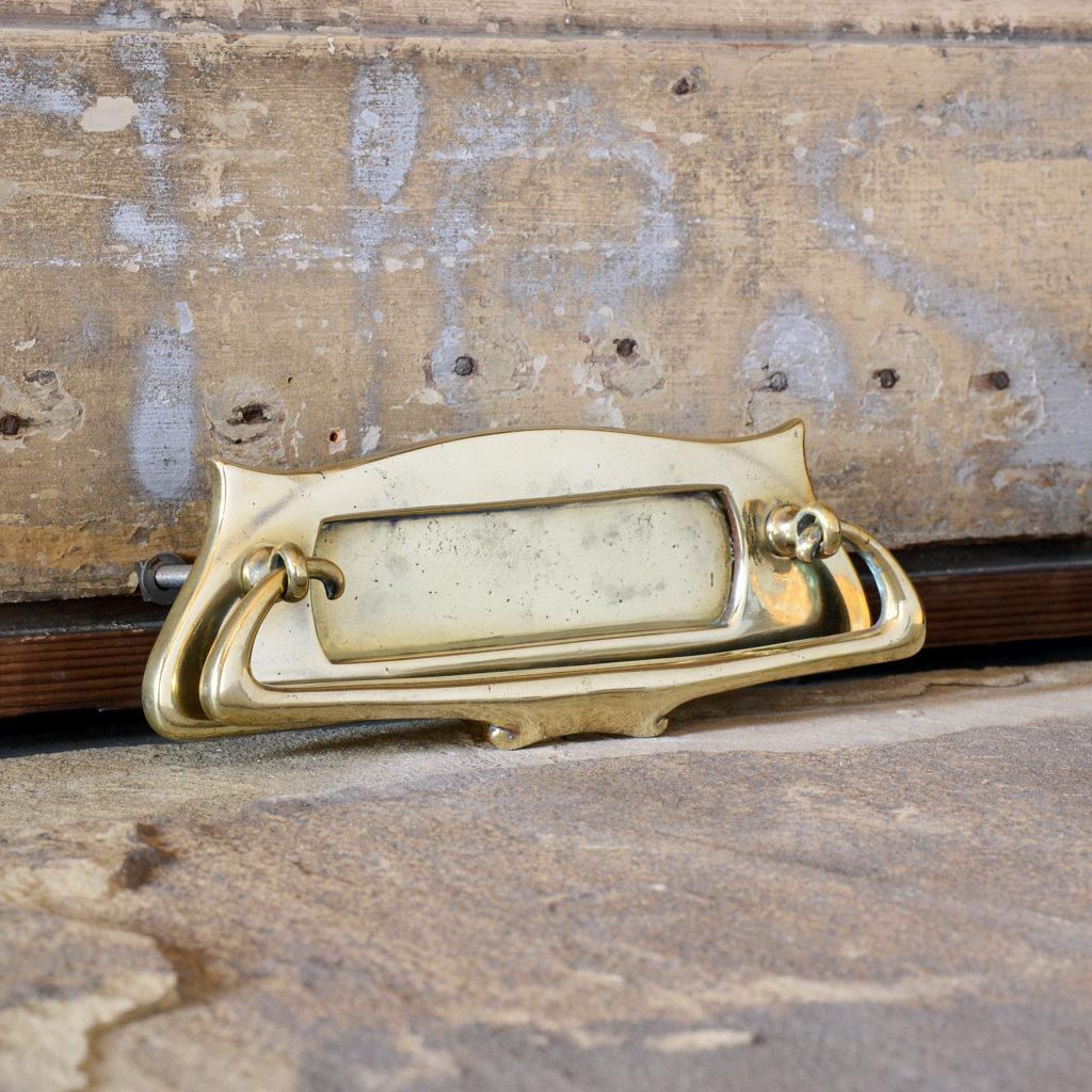 Art Nouveau brass letterplate, -95260