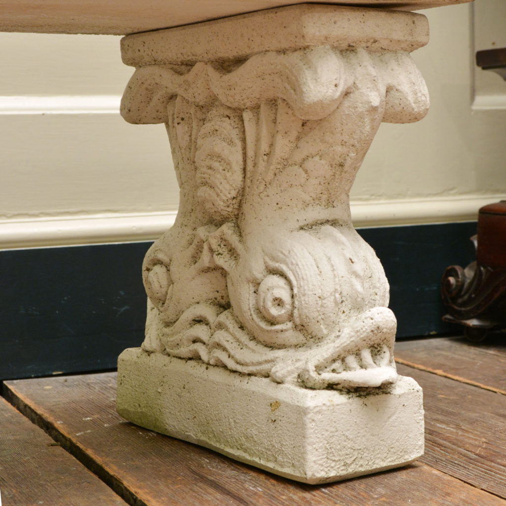 A reconstituted marble garden seat,-86517