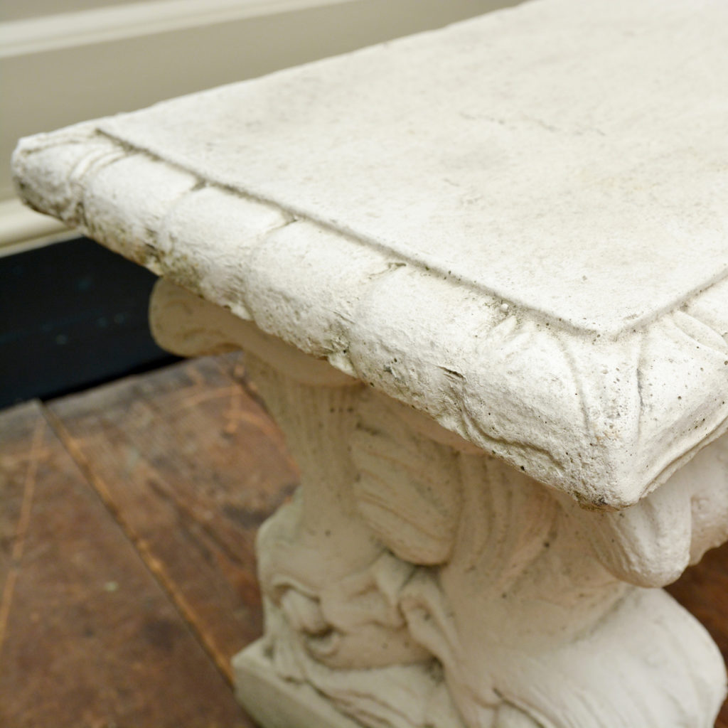 A reconstituted marble garden seat,-86519