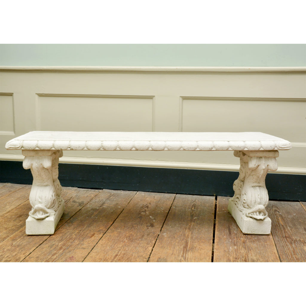 A reconstituted marble garden seat,-86518