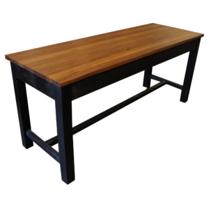 A plain Burmese Teak topped table-0