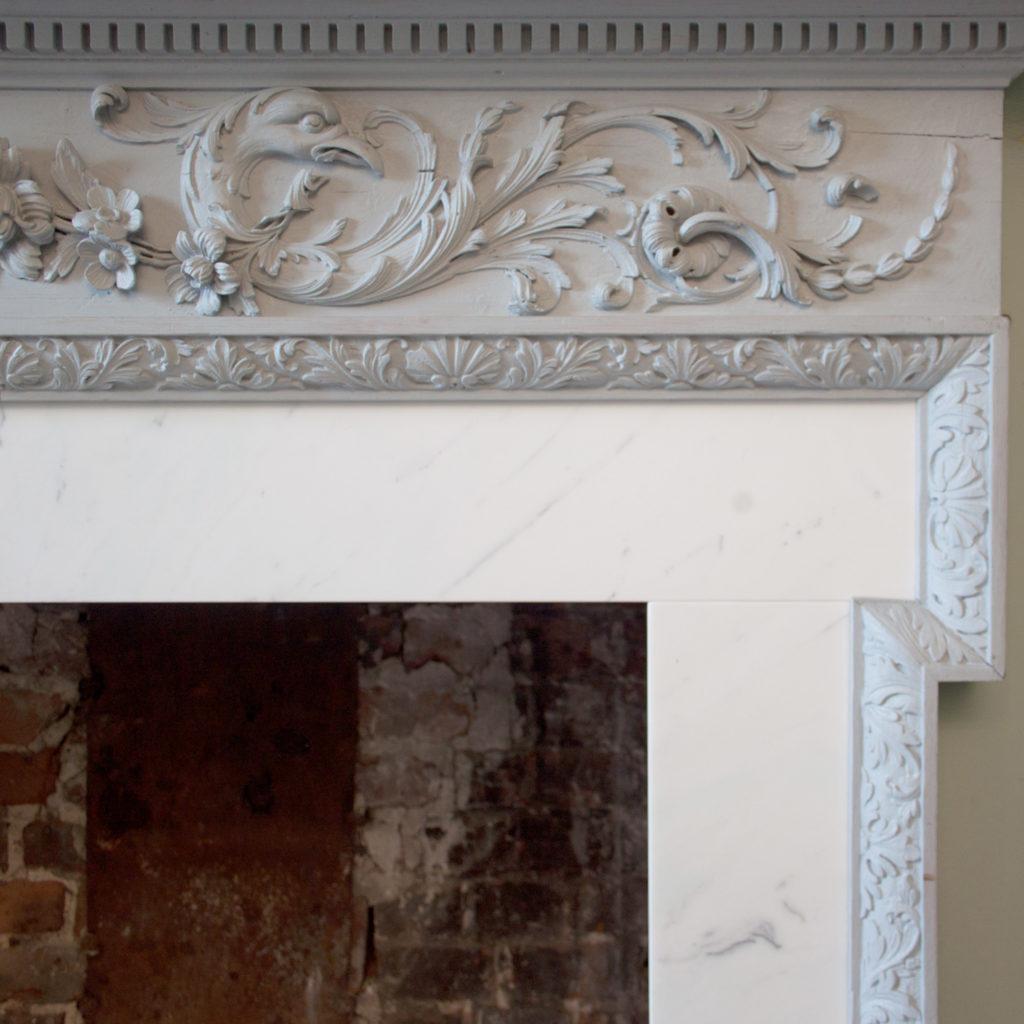 A George III pine chimneypiece,-87291